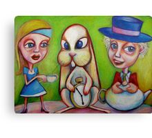 There Is Something Not Quite Right About This Tea Canvas Print