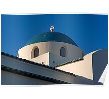 Greek Orthodox Church, Santa Barbara, California Poster