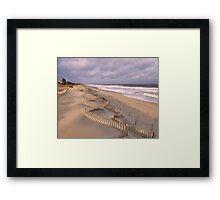 Jagged Dune Fence Framed Print