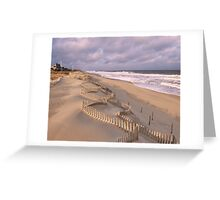 Jagged Dune Fence Greeting Card