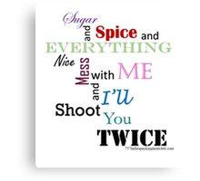 sugar and spice b Canvas Print