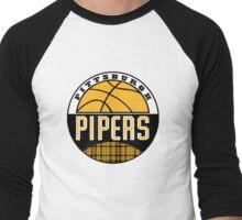 Pittsburgh Pipers Logo Men's Baseball ¾ T-Shirt