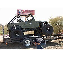 Army Jeep Photographic Print