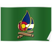 Colorado Campfire Poster