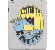 Listen To Metal iPad Case/Skin