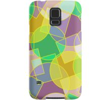 Stained glass colorful geometric mosaic pattern Samsung Galaxy Case/Skin