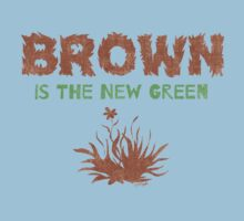 Brown Is The New Green One Piece - Short Sleeve