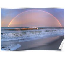 Rainbow Surfer Poster