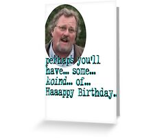 Happy Birthday from Childress of Ancient Aliens Greeting Card