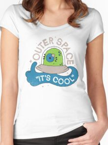 OUTER SPACE! Women's Fitted Scoop T-Shirt