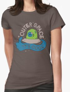OUTER SPACE! Womens Fitted T-Shirt