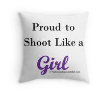 like a girl Throw Pillow
