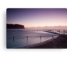 Sunrise Over The Bilgola Beach Rock Pool Canvas Print