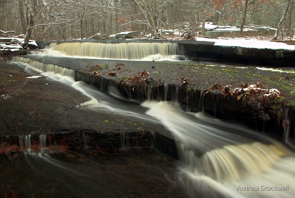First Snow at Stepstone Falls by Andrew Stockwell