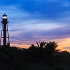Sanibel Lighthouse Sunrise by Kenneth Keifer