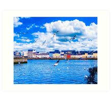 Looking Across Galway Harbor Art Print