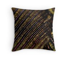 irridescent beetle wings Throw Pillow