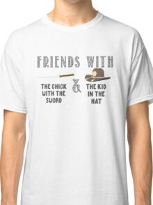 Friends With Sword and Hat - Walking Dead Classic T-Shirt