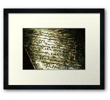 steel sculpture. nelson, aotearoa Framed Print