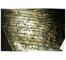 steel sculpture. nelson, aotearoa Poster