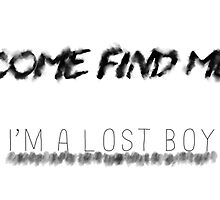 Come Find Me I'm A Lost Boy by missmuso