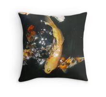 Koi Universe Throw Pillow