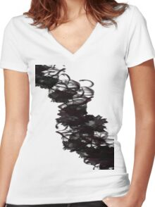 Swirling Mist Women's Fitted V-Neck T-Shirt