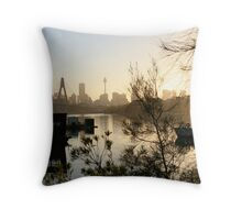 Sydney at day break Throw Pillow