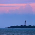 Sanibel Island Lighthouse Dawn by Kenneth Keifer