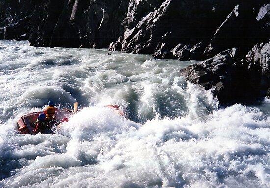 the pinch. rangitata river, aotearoa by tim buckley | bodhiimages
