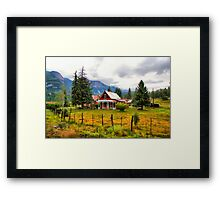 Life On The Mountain Framed Print