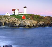 Nubble Light Sunset by Andrew Stockwell