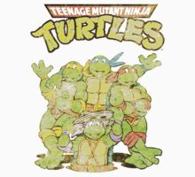 Retro Ninja Turtles Kids Tee