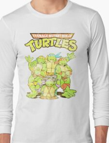 Retro Ninja Turtles Long Sleeve T-Shirt