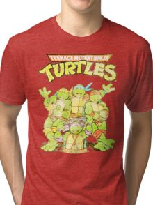 Retro Ninja Turtles Tri-blend T-Shirt