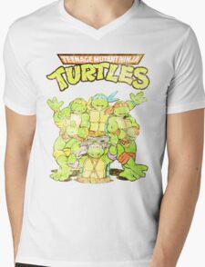 Retro Ninja Turtles Mens V-Neck T-Shirt