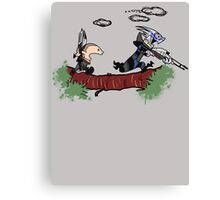 Mass Effect Calvin Hobbes Canvas Print