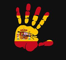 Spain flag in handprint Unisex T-Shirt