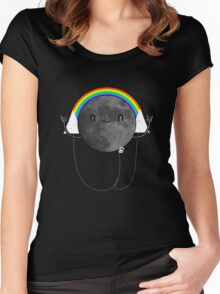 Dark Side of the Moon Parody #473827481 Women's Fitted Scoop T-Shirt