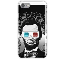 Abraham Lincoln - 3D (2) (Black) iPhone Case/Skin