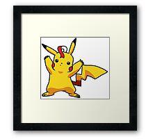 Pikachu's Little Arms Framed Print