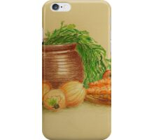 Still life with carrots and onions iPhone Case/Skin