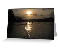 Golden Path to the Sun Greeting Card