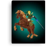 Link and Epona Canvas Print