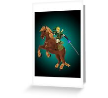 Link and Epona Greeting Card