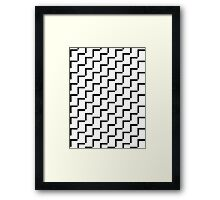 Geometric Black & White Framed Print