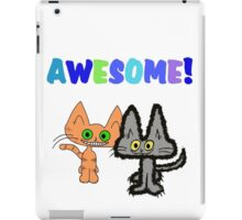Two Kittens See Something Awesome  iPad Case/Skin