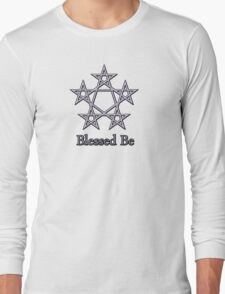 Blessed Be Pagan Wiccan Goddess Tee Stickers Long Sleeve T-Shirt