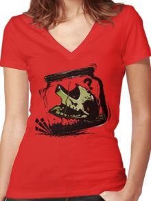 JAR OF ZOMBIE Women's Fitted V-Neck T-Shirt