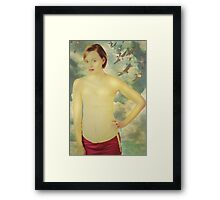 cream the butter and sugar until pale and fluffy Framed Print